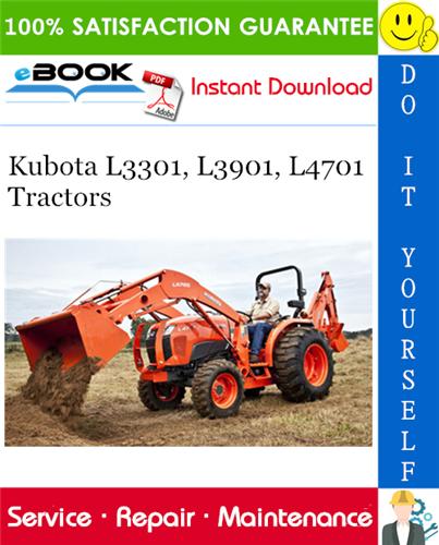 Thumbnail ☆☆ Best ☆☆ Kubota L3301, L3901, L4701 Tractors Service Repair Manual