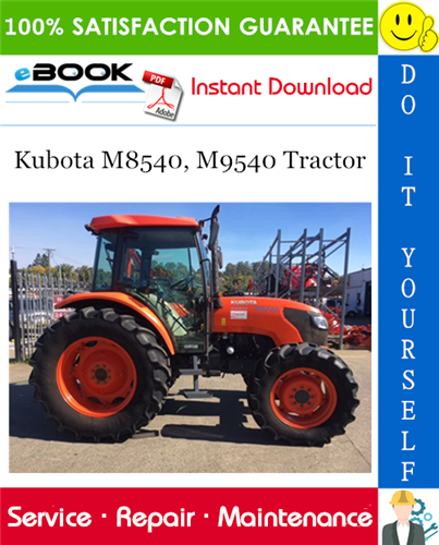 Thumbnail ☆☆ Best ☆☆ Kubota M8540, M9540 Tractor Service Repair Manual
