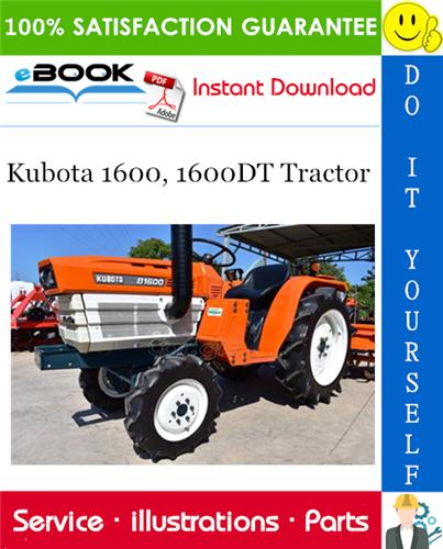 Thumbnail ☆☆ Best ☆☆ Kubota 1600, 1600DT Tractor Parts Manual