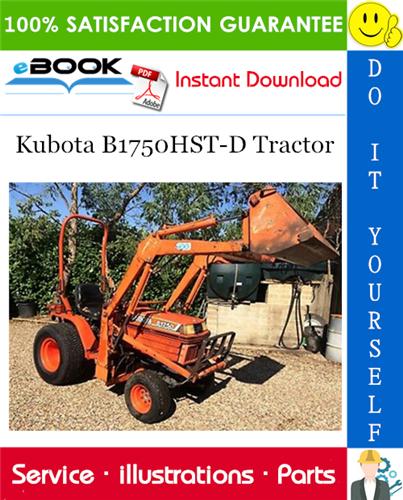 Thumbnail ☆☆ Best ☆☆ Kubota B1750HST-D Tractor Parts Manual
