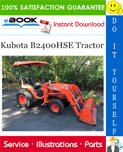 Thumbnail ☆☆ Best ☆☆ Kubota B2400HSE Tractor Parts Manual