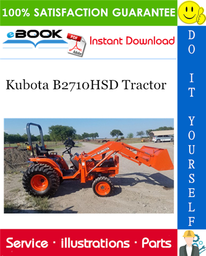 Thumbnail ☆☆ Best ☆☆ Kubota B2710HSD Tractor Parts Manual