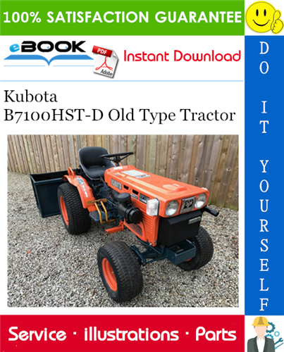 Thumbnail ☆☆ Best ☆☆ Kubota B7100HST-D Old Type Tractor Parts Manual