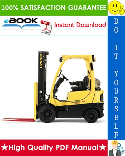 Thumbnail ☆☆ Best ☆☆ Hyster H30H, H40H, H50H, H60H (E003) Forklift Trucks Service Repair Manual