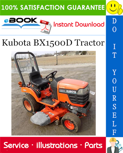 Thumbnail ☆☆ Best ☆☆ Kubota BX1500D Tractor Parts Manual
