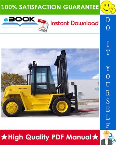 Thumbnail ☆☆ Best ☆☆ Hyster H165XL, H190XL, H210XL, H230XL, H250XL, H280XL (E007) Forklift Trucks Service Repair Manual