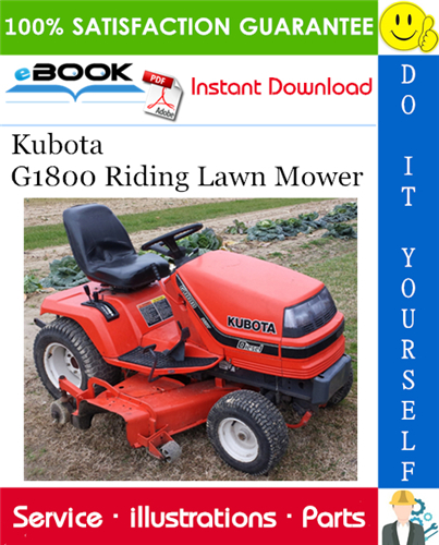 Thumbnail ☆☆ Best ☆☆ Kubota G1800 Riding Lawn Mower Parts Manual