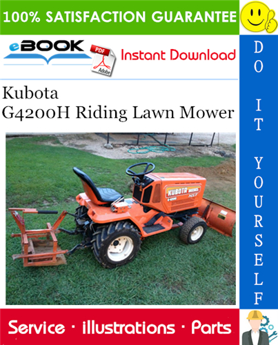 Thumbnail ☆☆ Best ☆☆ Kubota G4200H Riding Lawn Mower Parts Manual