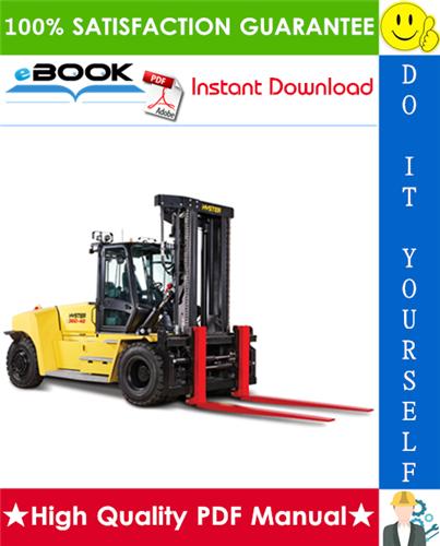 Thumbnail ☆☆ Best ☆☆ Hyster H300HD, H330HD, H360HD, H360HD-EC (E019) High-Capacity Forklift Trucks Service Repair Manual
