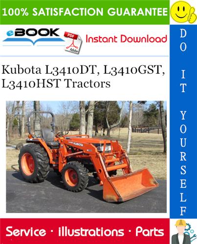 Thumbnail ☆☆ Best ☆☆ Kubota L3410DT, L3410GST, L3410HST Tractors Parts Manual