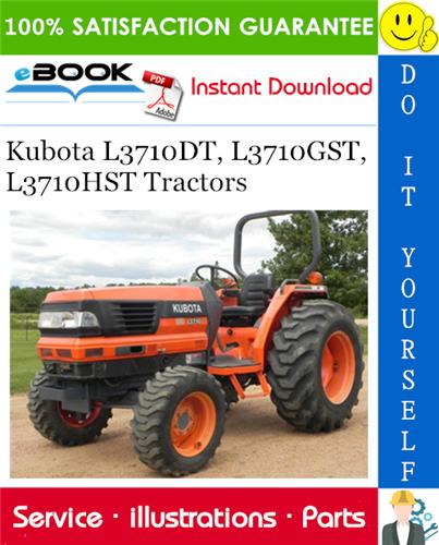 Thumbnail ☆☆ Best ☆☆ Kubota L3710DT, L3710GST, L3710HST Tractors Parts Manual