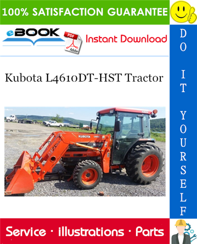 Thumbnail ☆☆ Best ☆☆ Kubota L4610DT-HST Tractor Parts Manual