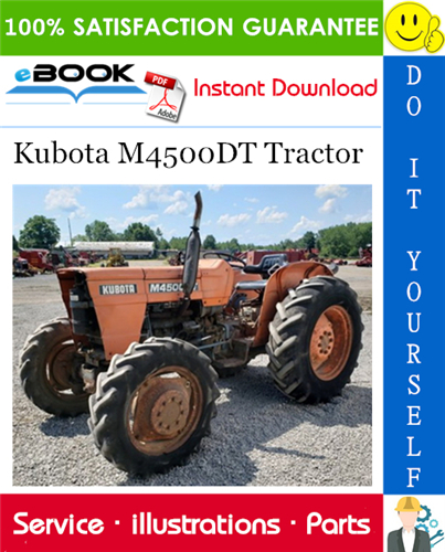 Thumbnail ☆☆ Best ☆☆ Kubota M4500DT Tractor Parts Manual