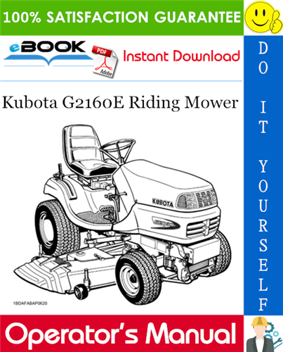 Thumbnail ☆☆ Best ☆☆ Kubota G2160E Riding Mower Operators Manual