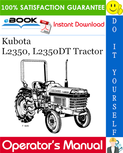 Thumbnail ☆☆ Best ☆☆ Kubota L2350, L2350DT Tractor Operators Manual