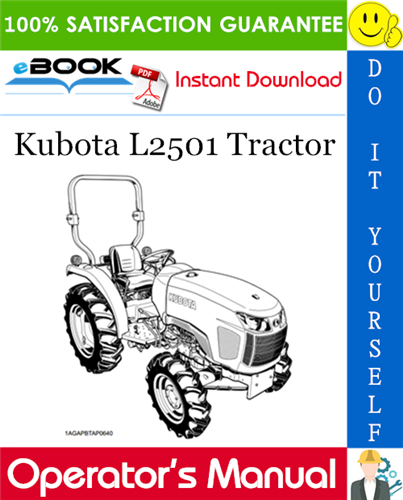 Thumbnail ☆☆ Best ☆☆ Kubota L2501 Tractor Operators Manual