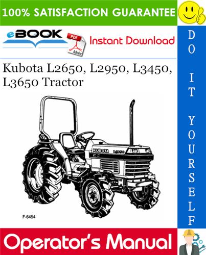 Thumbnail ☆☆ Best ☆☆ Kubota L2650, L2950, L3450, L3650 Tractor Operators Manual