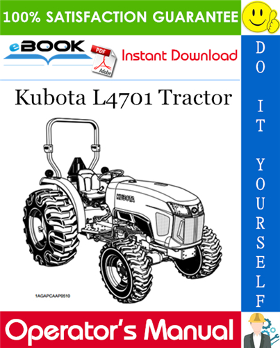 Thumbnail ☆☆ Best ☆☆ Kubota L4701 Tractor Operators Manual