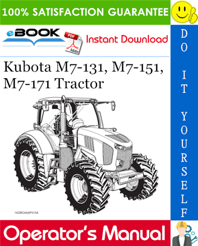 Thumbnail ☆☆ Best ☆☆ Kubota M7-131, M7-151, M7-171 Tractor Operators Manual