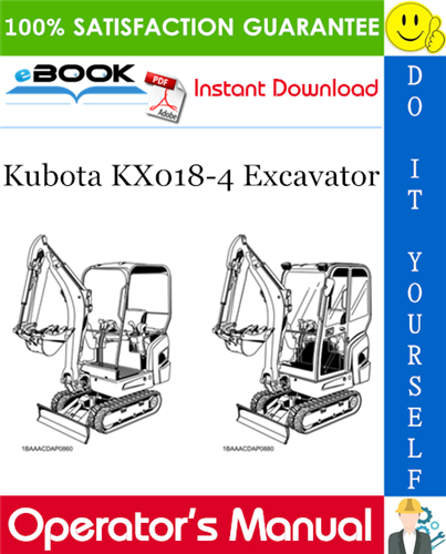 Thumbnail ☆☆ Best ☆☆ Kubota KX018-4 Excavator Operators Manual