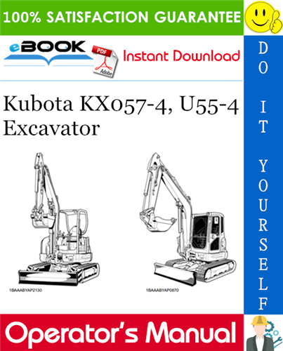Thumbnail ☆☆ Best ☆☆ Kubota KX057-4, U55-4 Excavator Operators Manual