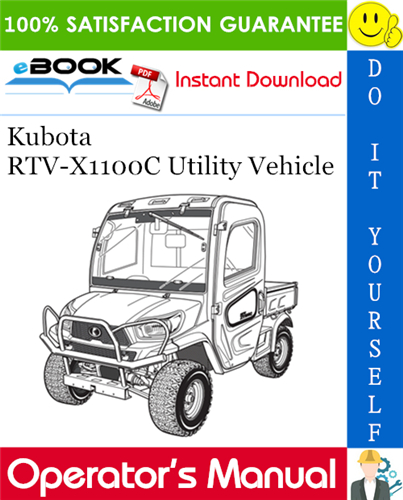 Thumbnail ☆☆ Best ☆☆ Kubota RTV-X1100C Utility Vehicle Operators Manual