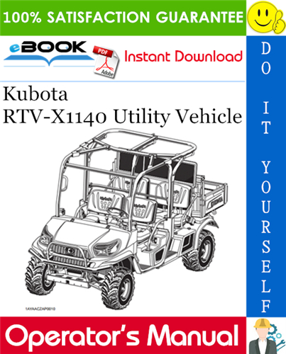 Thumbnail ☆☆ Best ☆☆ Kubota RTV-X1140 Utility Vehicle Operators Manual