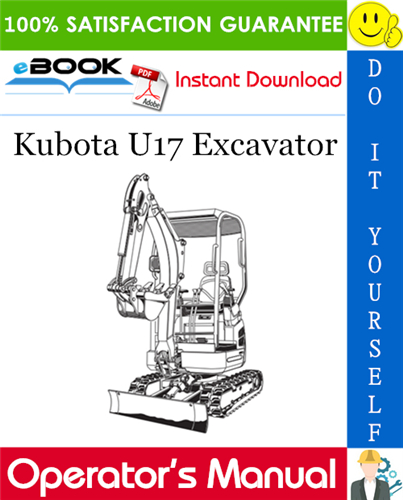 Thumbnail ☆☆ Best ☆☆ Kubota U17 Excavator Operators Manual