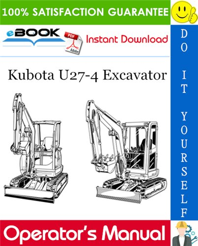 Thumbnail ☆☆ Best ☆☆ Kubota U27-4 Excavator Operators Manual