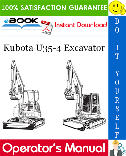 Thumbnail ☆☆ Best ☆☆ Kubota U35-4 Excavator Operators Manual