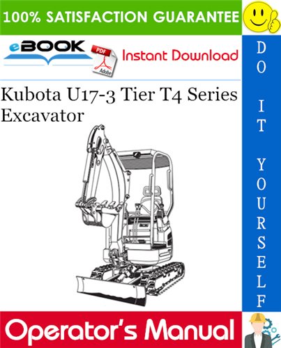 Thumbnail ☆☆ Best ☆☆ Kubota U17-3 Tier T4 Series Excavator Operators Manual