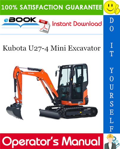 Thumbnail ☆☆ Best ☆☆ Kubota U27-4 Mini Excavator Operators Manual