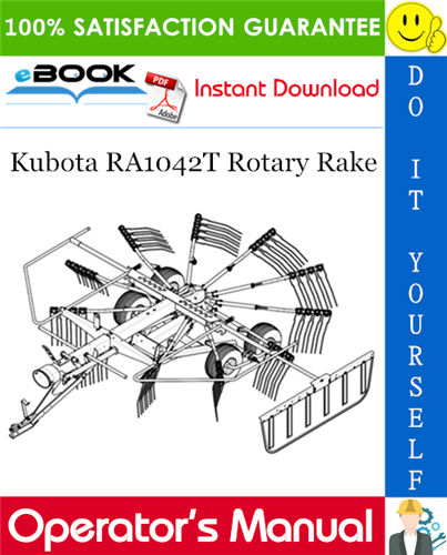Thumbnail ☆☆ Best ☆☆ Kubota RA1042T Rotary Rake Operators Manual