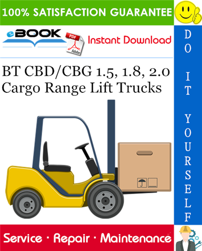 Thumbnail ☆☆ Best ☆☆ BT CBD/CBG 1.5, 1.8, 2.0 Cargo Range Lift Trucks Service Repair Manual