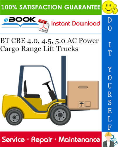 Thumbnail ☆☆ Best ☆☆ BT CBE 4.0, 4.5, 5.0 AC Power Cargo Range Lift Trucks Service Repair Manual