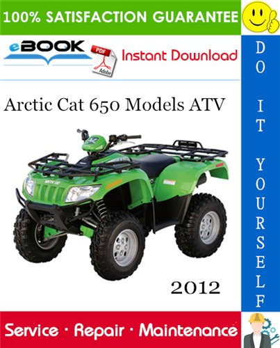 Thumbnail ☆☆ Best ☆☆ 2012 Arctic Cat 650 Models ATV Service Repair Manual