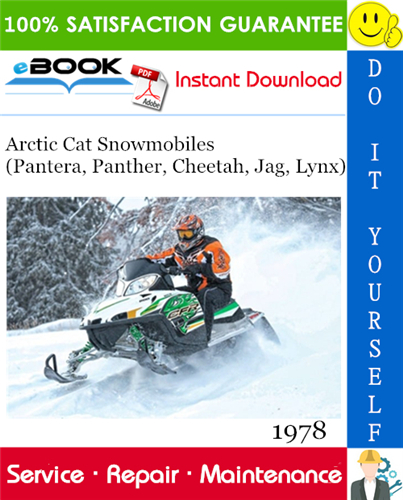 Thumbnail ☆☆ Best ☆☆ 1978 Arctic Cat Snowmobiles (Pantera, Panther, Cheetah, Jag, Lynx) Service Repair Manual