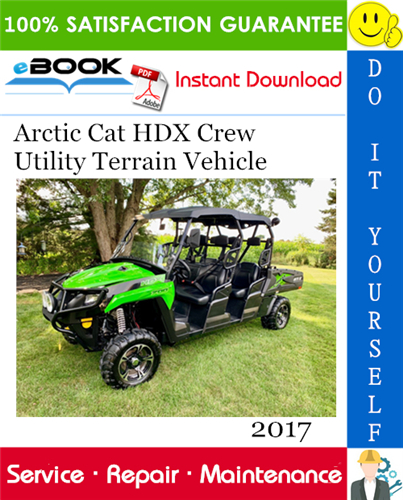 Thumbnail ☆☆ Best ☆☆ 2017 Arctic Cat HDX Crew Utility Terrain Vehicle Service Repair Manual