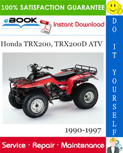 Thumbnail ☆☆ Best ☆☆ Honda TRX200, TRX200D ATV Service Repair Manual 1990-1997 Download