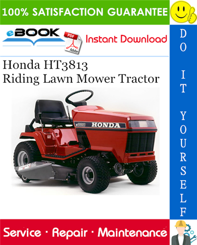 Thumbnail ☆☆ Best ☆☆ Honda HT3813 Riding Lawn Mower Tractor Service Repair Manual