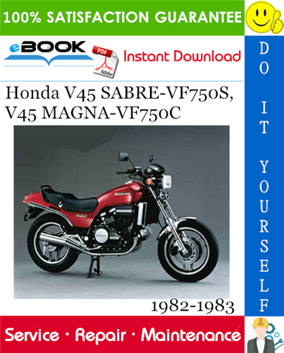 Thumbnail ☆☆ Best ☆☆ Honda V45 SABRE-VF750S, V45 MAGNA-VF750C Motorcycle Service Repair Manual 1982-1983 Download