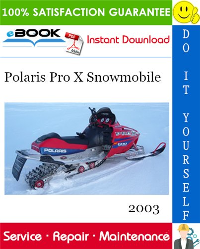 Thumbnail ☆☆ Best ☆☆ 2003 Polaris Pro X Snowmobile Service Repair Manual