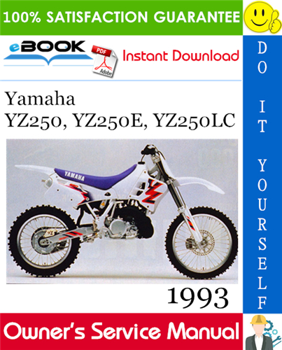 Thumbnail ☆☆ Best ☆☆ 1993 Yamaha YZ250, YZ250E, YZ250LC Motorcycle Owners Service Manual