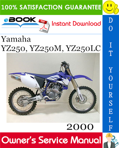 Thumbnail ☆☆ Best ☆☆ 2000 Yamaha YZ250, YZ250M, YZ250LC Motorcycle Owners Service Manual