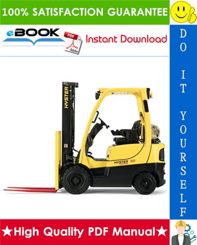 Thumbnail ☆☆ Best ☆☆ Hyster H40FT, H50FT, H60FT, H70FT (P177) 4-Wheel Pneumatic Tire Lift Trucks Service Repair Manual