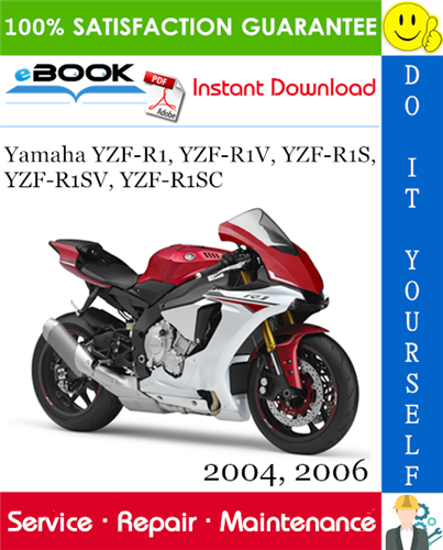 Thumbnail ☆☆ Best ☆☆ Yamaha YZF-R1, YZF-R1V, YZF-R1S, YZF-R1SV, YZF-R1SC Motorcycle Service Repair Manual 2004, 2006 Download