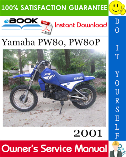 Thumbnail ☆☆ Best ☆☆ 2001 Yamaha PW80, PW80P Motorcycle Owners Service Manual