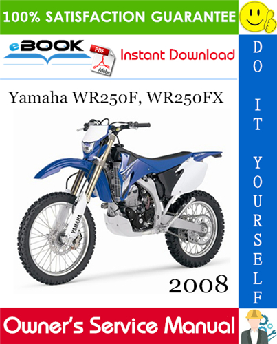 Thumbnail ☆☆ Best ☆☆ 2008 Yamaha WR250F, WR250FX Motorcycle Owners Service Manual