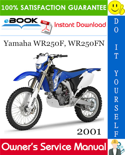 Thumbnail ☆☆ Best ☆☆ 2001 Yamaha WR250F, WR250FN Motorcycle Owners Service Manual