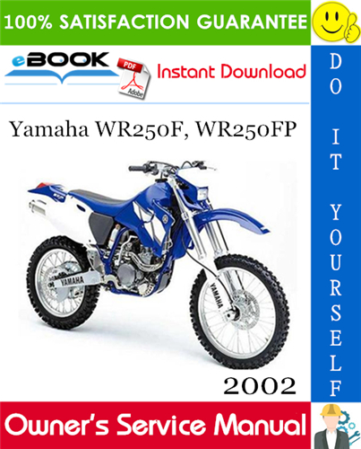 Thumbnail ☆☆ Best ☆☆ 2002 Yamaha WR250F, WR250FP Motorcycle Owners Service Manual